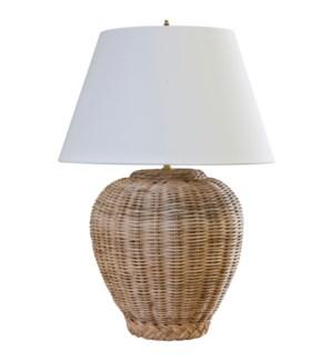 Wicker Jar Lamp Base
