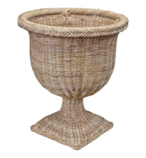 Braided Square Base Urn