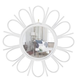 Petals Mirror- Antique White