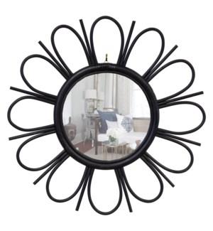 Petals Mirror- Black