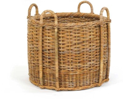 French Country Fireplace Basket