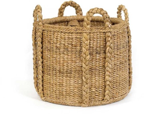 Sweater Weave Fireplace Basket