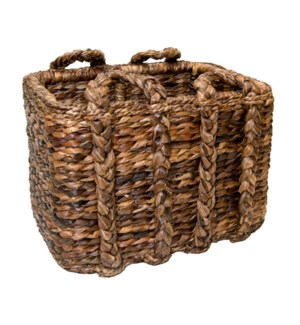 Large Havana Rectangular Rush Basket