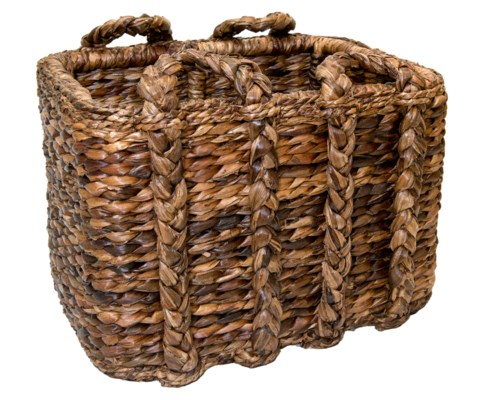 Large Havana Rectangular Rush Basket