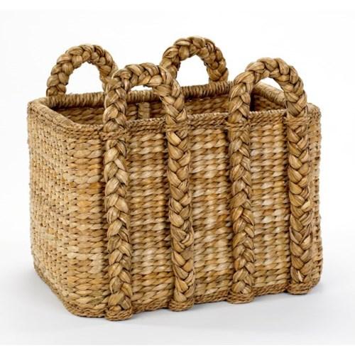 Large Rectangular Rush Basket