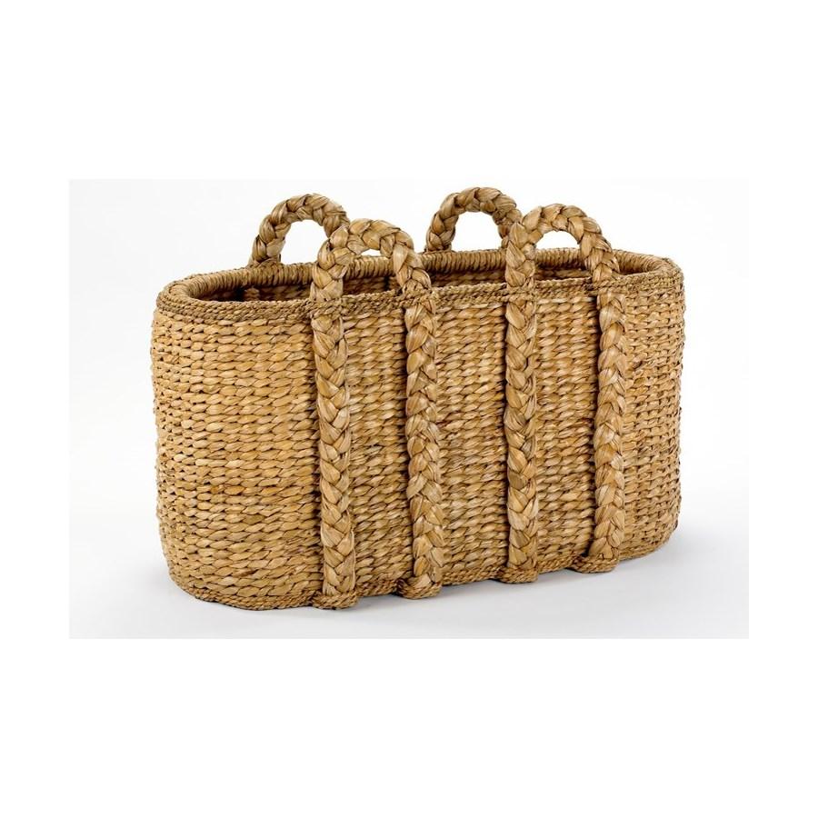 Large Oval Log Rush Basket