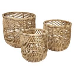 Swirl Rattan Basket Set of 3