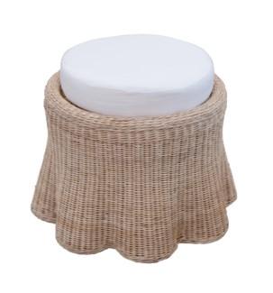 Scallop Small Round Ottoman