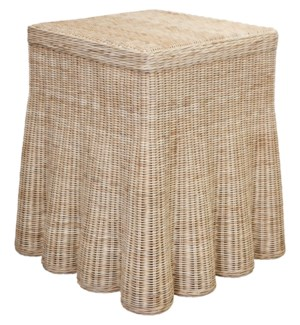 Scallop Square Side Table
