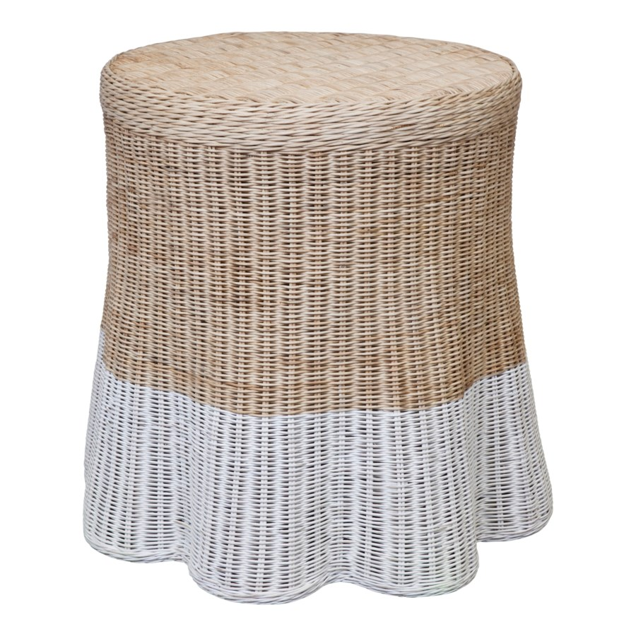 Dipped Scallop Round Side Table
