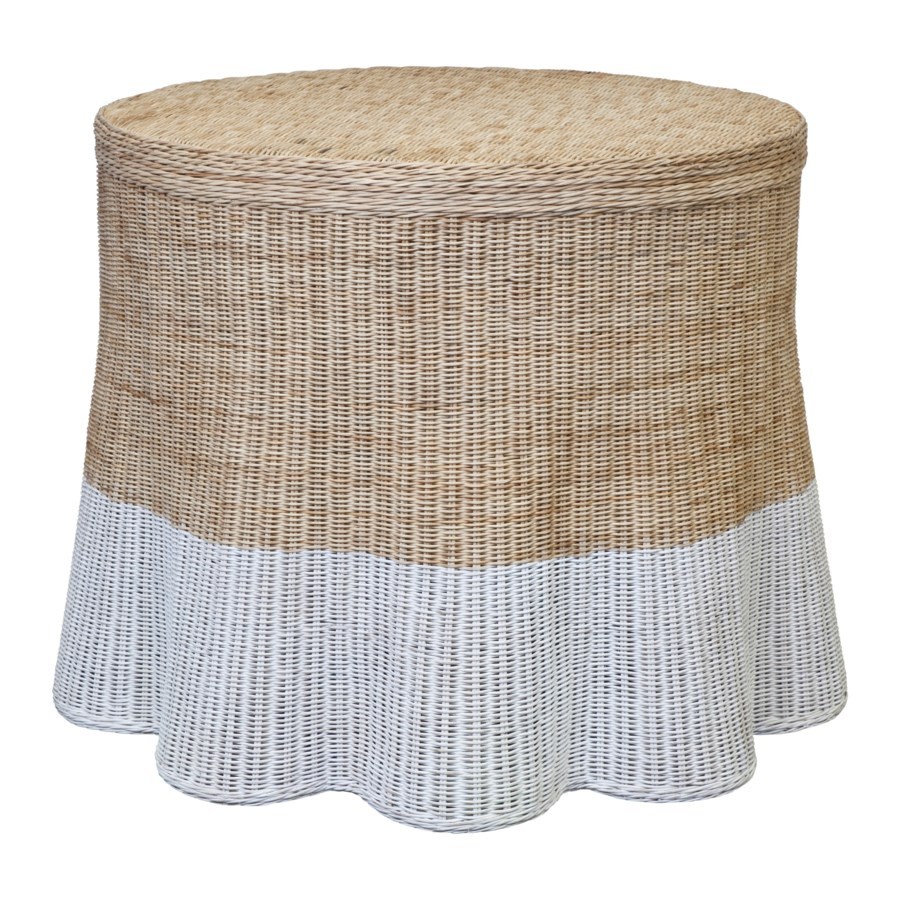 Dipped Center Scallop Round Table