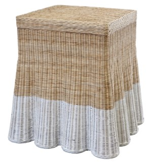Dipped Scallop Square Side Table