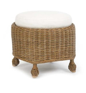 Eastern Shore Round Cushioned Ottoman