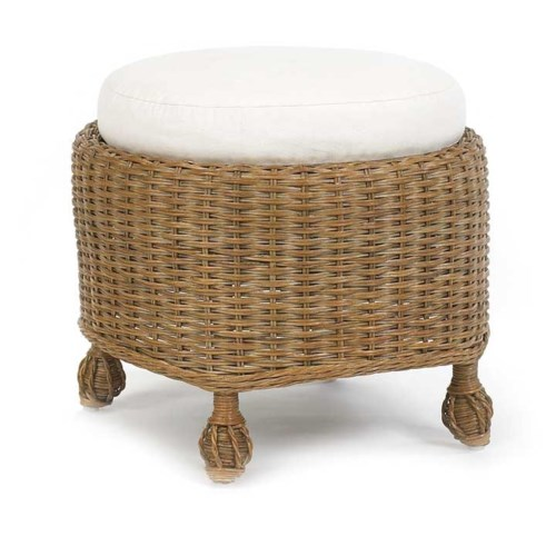 Eastern Shore Round Cushioned Ottoman All Furniture
