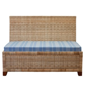 Wicker Dining Banquette