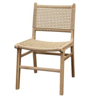 Woven Teak Dining Chair