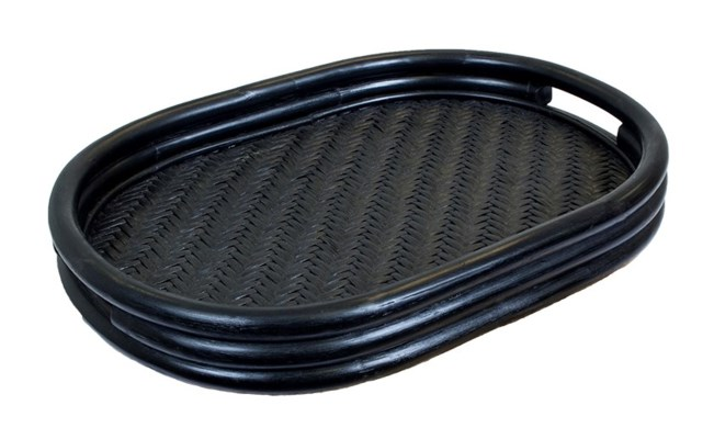 Rattan Oval Tray