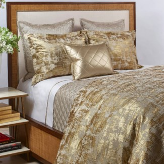 scratch duvet set - gold