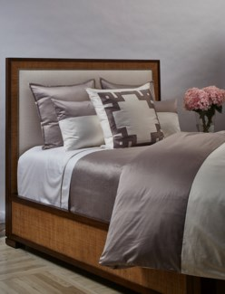 linea coverlet set - taupe