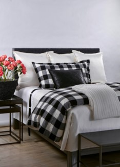 plaid duvet set