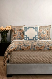 smokey floral duvet set - blue