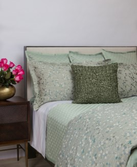 double diamond coverlet set - sea