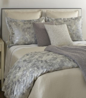 linea coverlet set - ivory