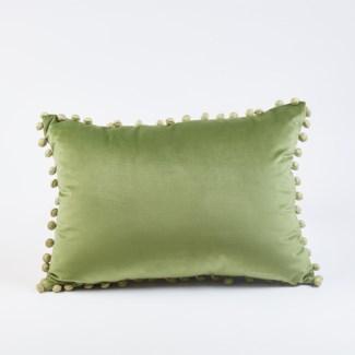 ball trim pillow