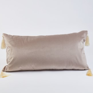 lumbar velvet pillow