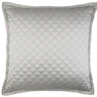 double diamond coverlet set - silver
