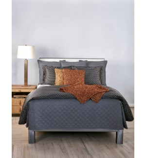 flannel coverlet set - grey