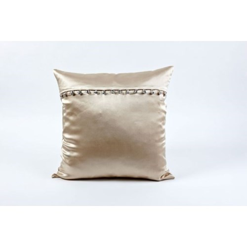 charmeuse pillow with crystal buttons
