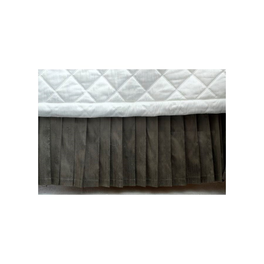 dupione soft pleat bedskirt