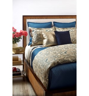arabesque duvet set - teal
