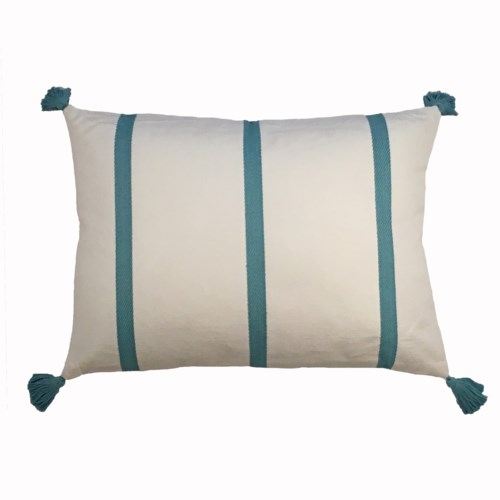 canvas stripe pillow