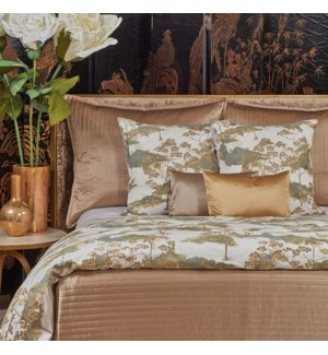 charmeuse channel quilt coverlet