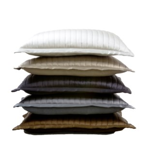charmeuse channel quilt pillow