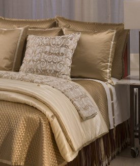 charmeuse quilted coverlet
