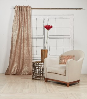 sheer curtain panel - gold