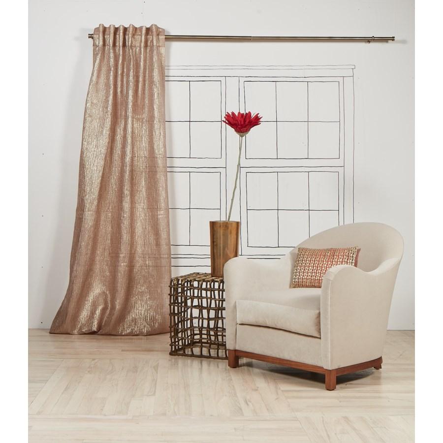 sheer curtain panel - gold