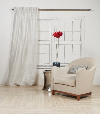 sheer curtain panel - silver