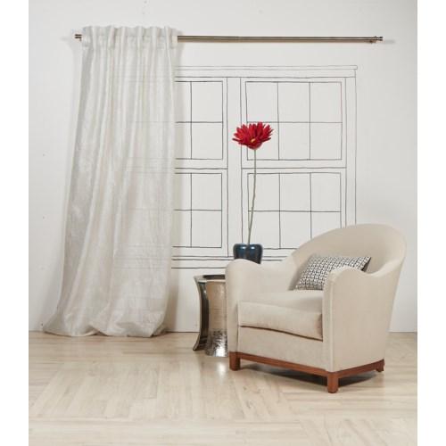 sheer curtain panel - silver