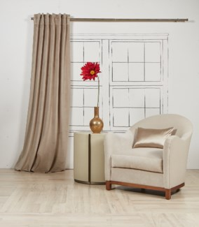 velvet curtain panel - taupe