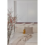 faux flax coverlet set - pumice