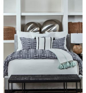 fringe duvet set - grey
