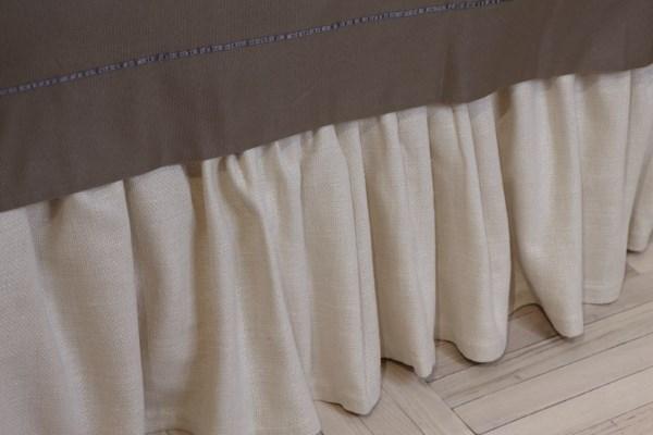 basketweave gathered skirt