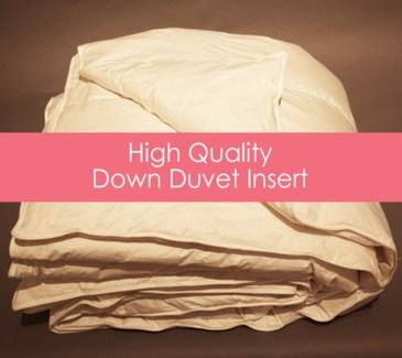 down high quality duvet insert