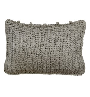 knitted silk pillow