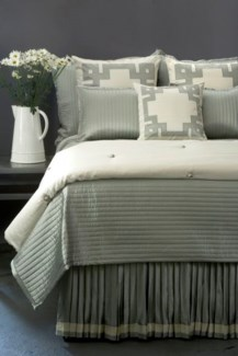 monaco knife pleat bedskirt