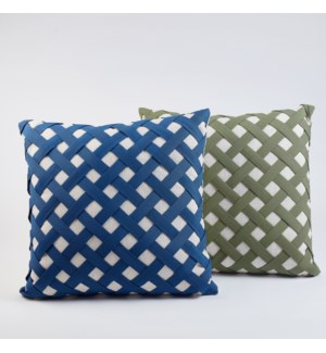 lattice pillow - indigo